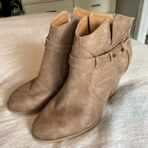 Brand new taupe booties size 6.5